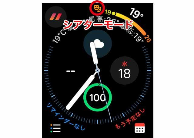 Apple Watchのシアターモード